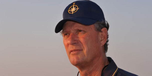 Dr. Robert Ballard daydreaming about his new big discovery.