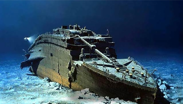 The Titanic, post-iceberg.