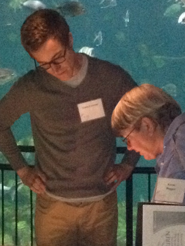 """UNC Visiting Scholar Travis Courtney """"making ocean chemistry awesome"""" as one teacher said."""