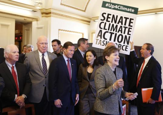 A group of those who participated in #up4climate Photo Credit: Yuri Gripas/ REUTERS