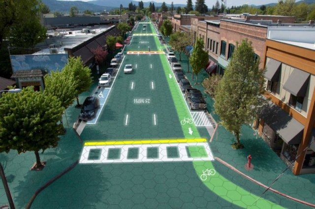 artists rendering of Solar Roads  https://www.indiegogo.com/projects/solar-roadways