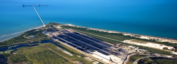 The Abbot Point coal port.  Image from http://www.nqbp.com.au/abbot-point/