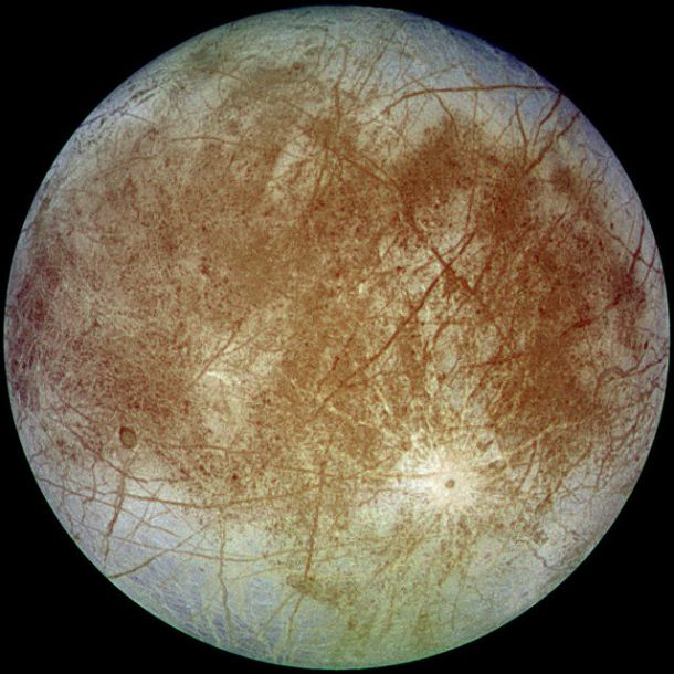 What secrets lie beneath Europa's icy exterior? Creative Commons.