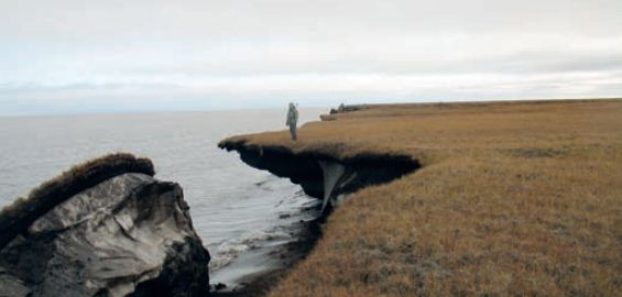 Thawing permafrost can do serious damage. Sinkholes, landslides, and coastal erosion are all possible (http://capacity4dev.ec.europa.eu/)
