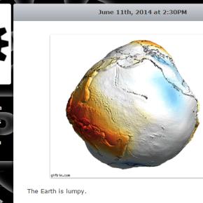 Is the Earth shaped like a potato – Science in socialmedia