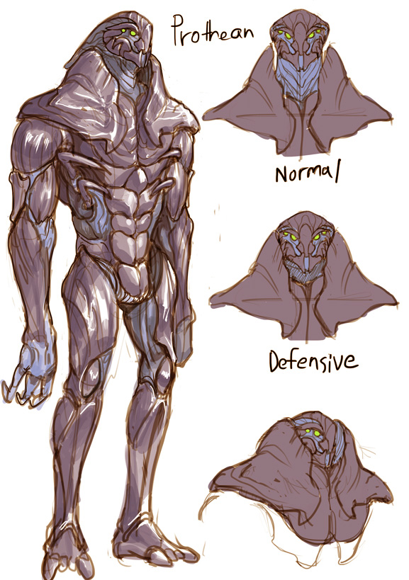 "The ancient, mysteriously extinct alien species know as ""Prothean"" from the video game space opera trilogy ""Mass Effect"" Get on my sci-fi nerd level. :)"