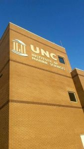 UNC Institute of Marine Sciences in Morehead City, NC. Photo by Larisa Bennett.