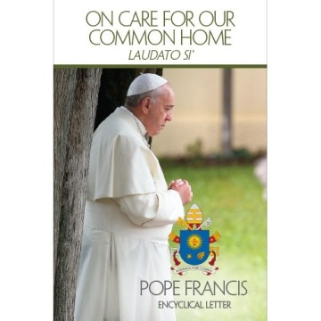 The cover of the US edition of Laudato Si'. Image from http://store.usccb.org/On-Care-for-Our-Common-Home-Laudato-Si-p/7-502.htm
