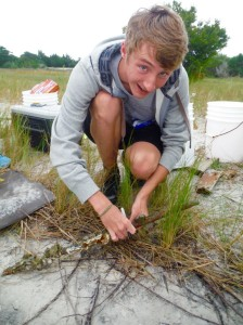 One subgroup including Patrick Winner (pictured) is focused on the spatial distribution of debris between the zones – how much is in each zone and what types are there in each zone. PC: Abbey Vinson
