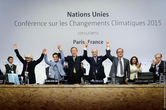 Séance pleinière de la COP21 pour l'adoption de l'accord de Paris (Salle Seine - Le Bourget)