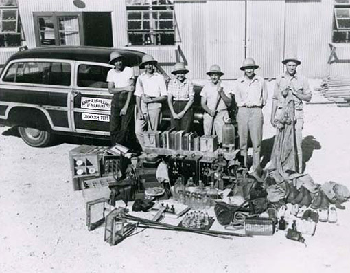 Not to be confused with Indiana Jones! Dr. Ruth Patrick (3rd from left) and her team of scientists survey the Guadalupe River, TX, in 1947. Image from http://www.ansp.org/explore/online-exhibits/stories/the-patrick-principle/